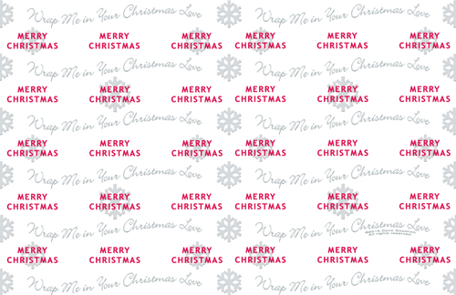 Merry Snowflake Wrapping Paper 11x17
